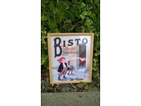 "BISTO FOR ALL MEAT DISHES ""AH BISTO"" COPY VINTAGE POSTER PRINT ADVERTISING GLUSBURN BD208DW, W.YORKS"