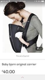 Baby Bjorn original baby carrier