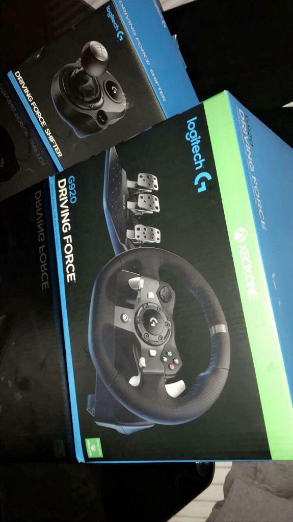 Logitech G920 Driving Force Steering Wheel Xbox One Pc In Chesham