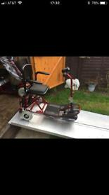 Ex Demo Lightweight Shoprider Mobility Scooter New Batteries Easily Portable Only £290