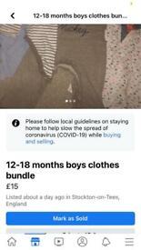 12-18m baby boy bundle