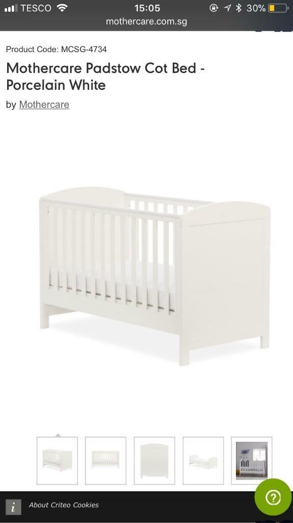 Cot bed from mothercare