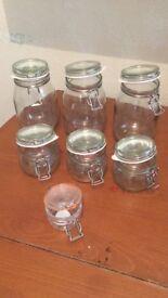 6 Ikea Food Jars - 1 Kilner Food Jar