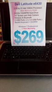 Dell e6430 I5 Intel - 4Gb RAM - 320Gb HDD - Backlit Keyboard - 1 Year Warranty