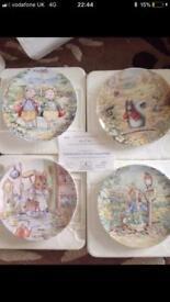 16 Danbury Mint Beatrix Potter Plates