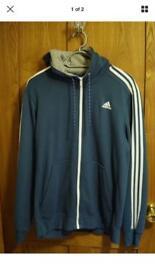 Adidas 3 stripe essentials climalite hoodie