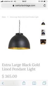 Extra large antique pendant light
