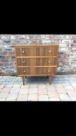 Old Vintage/Retro Morris Of Glasgow 'Cumbrae' Teak Chest Of Drawers - Delivery Available