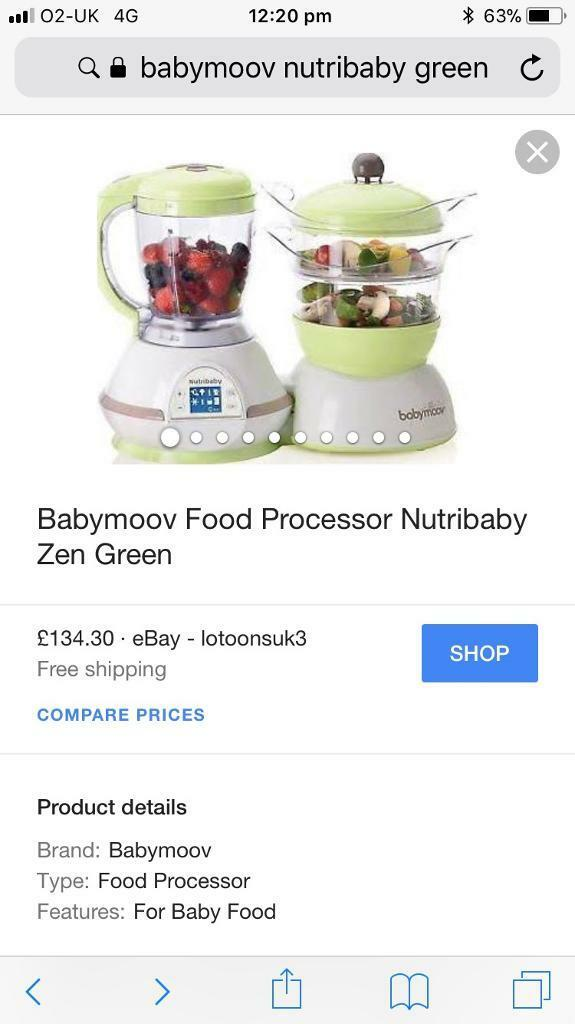 Babymoov nutribaby processor blender steamer steriliser defrost baby feeding