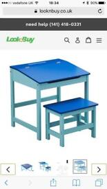 Kids Desk & Stool Set New