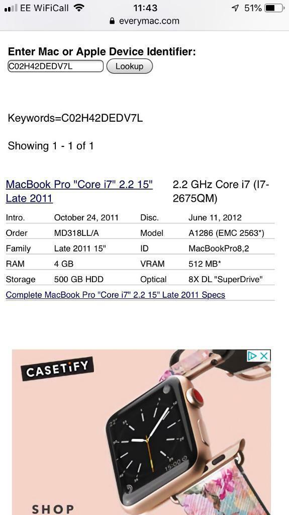 MacBook Pro late 2011 i7 - GPU dead!   in Norwich, Norfolk   Gumtree