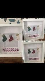 Personalised Christmas stocking boxframe