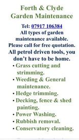 Forth & Clyde Garden Maintenance - For all your gardening requirements