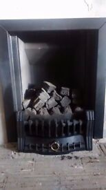 gas fire with coal effect real flame