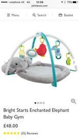 Bright Starts elephant baby play mat gym
