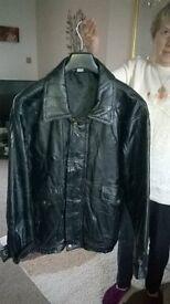 mens leather jacket black
