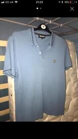 Lyle and Scott light blue polo shirt - xl