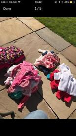 Selection of girls clothes age 0-3 months