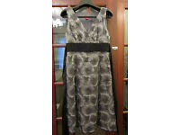 New Monsoon Silver/Grey Sleeveless Party/Formal dress.