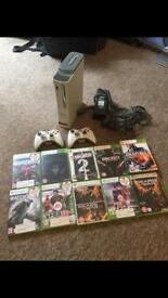 Xbox 360 + 2 Controllers + 11 Games