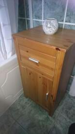 Single Livardo 1-Drawer Solid Shelved Cabinet