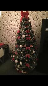 7ft Christmas tree.