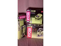 Ryobi 18 volt Jigsaw R18JS-O, Angle Drill RAD1801-M , Fast Charger BCL14181H , No batteries ,