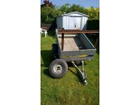 galvanised tipping trailer spare wheel and lights