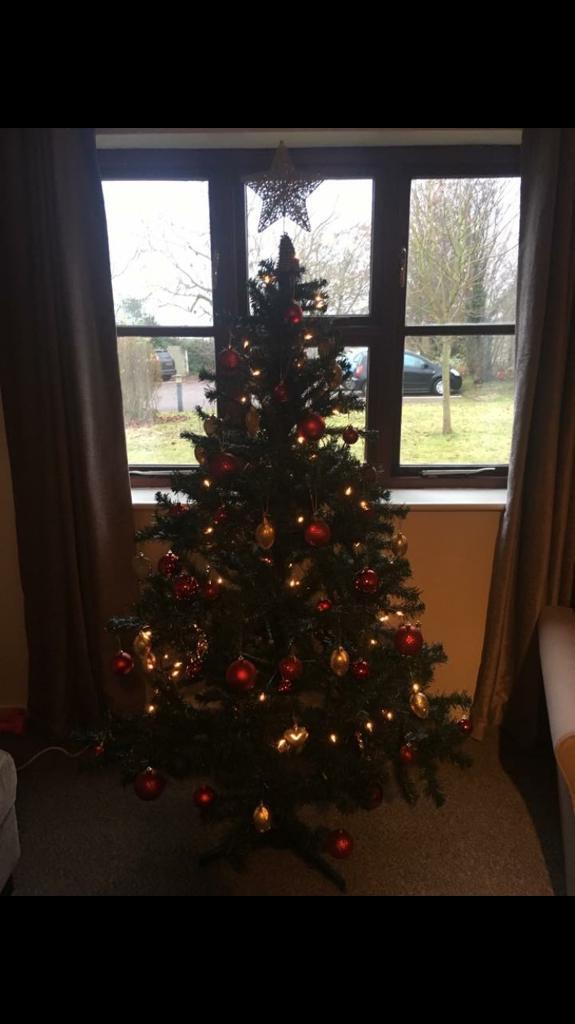6ft Christmas Tree with lights and star
