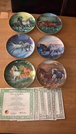 6 British Horse Society Collectors Plates