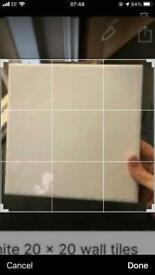 White 20 x 20 wall tiles- 19