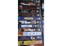 COLLECTION OF VHS FILMS/APPROX 200/ALL TYPES COMEDY ADVENTURE FAMILY CLASSIC SCI-FI LOT