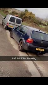 Breaking only 1.9tdi golf