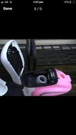 Pink razor motorised moped