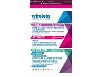 WIRELESS TICKET FRIDAY *2 AVAILABLE*