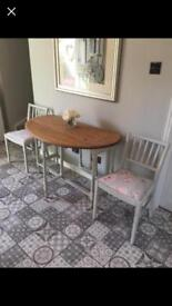 Restored gateleg table and 2 Ercol chairs