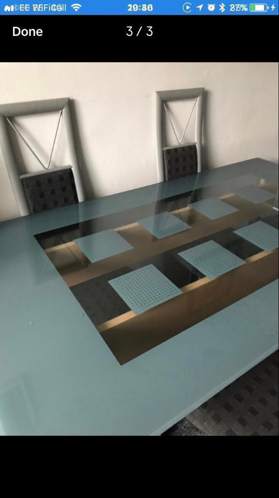 6 seater barker and stone house glass dining table