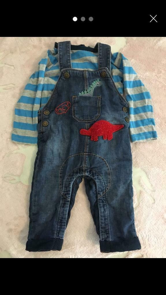 1382b1514f35 Baby's boys dinosaur dungarees set 6-9 months £1.50   in North ...
