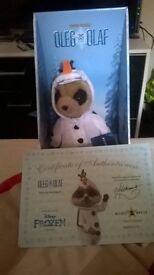 Oleg as Olaf frozen meerkat toy