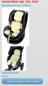 Buggy and car seat liner sheepskin