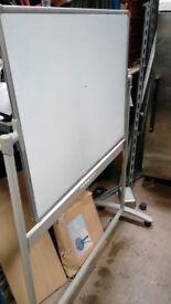 Medium Sized Whiteboard on Wheels