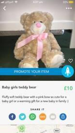 Baby girls teddy bear