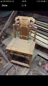 Chinese hall chair 19th century Antique