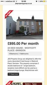 3/4 Bed House - Swindon Town Centre