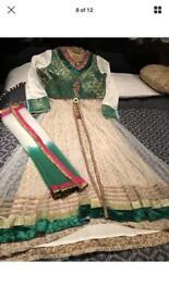 Pakistani/Indian Asian Anarkali jacket suit kameez shalwar clothes dress