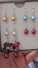 Honora Pearl earring set never worn