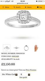 18 carat engagement ring 0.65 sis for sale Bargain