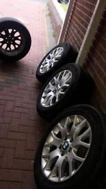 BMW X5 WHEELS WITH TYRES 255/55/R18
