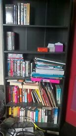 Black bookcase / shelved unit