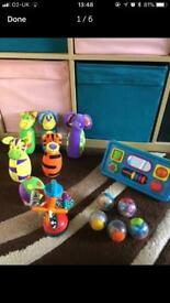 Baby toy bundle including four sets of toys